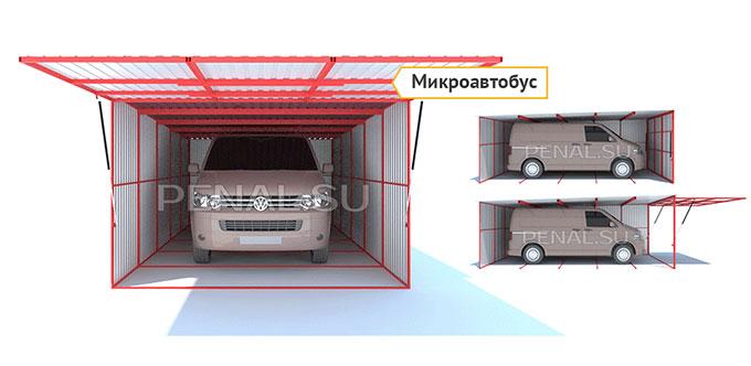 Каркасный гараж из досок своими руками